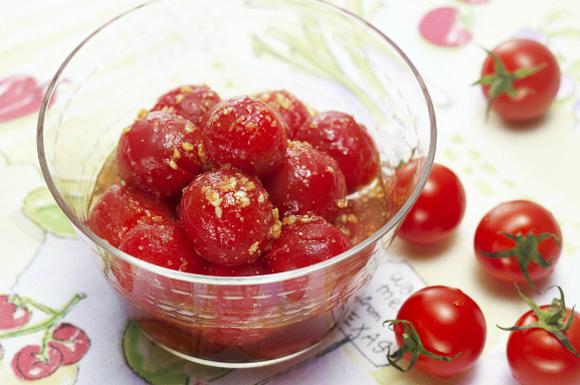 ミニトマトのめんつゆマリネ