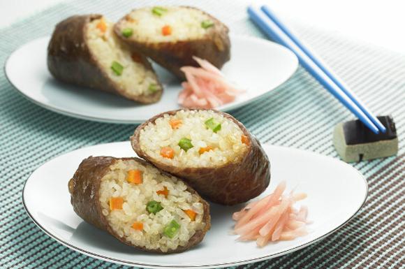 肉巻きロール寿司