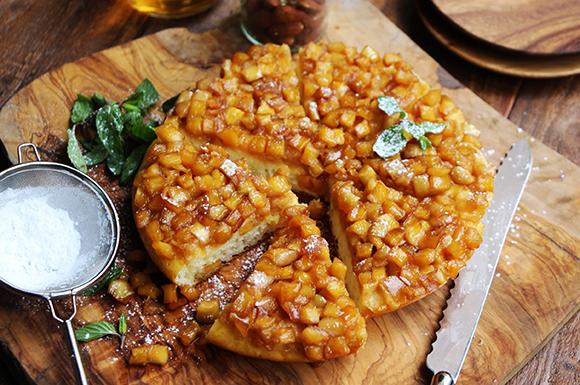 りんごキャラメルの即席ケーキ