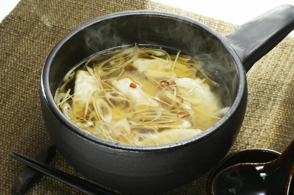 餃子の和風スープ