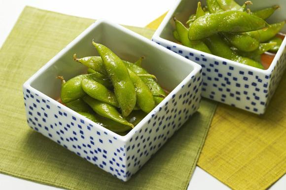 枝豆のピリ辛めんつゆ漬け