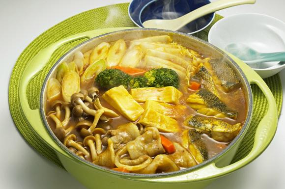 めんつゆ風カレー鍋