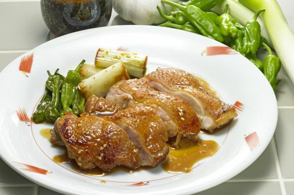 (ごま油だれ)鶏肉の照り焼き