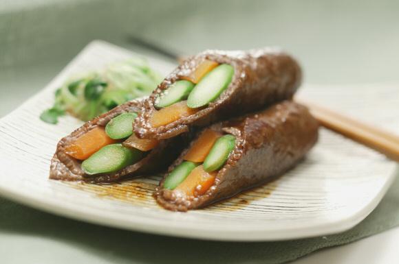牛肉の野菜ロール
