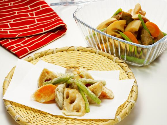 野菜煮の天ぷら