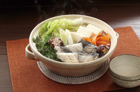 たらと冬野菜の寄せ鍋
