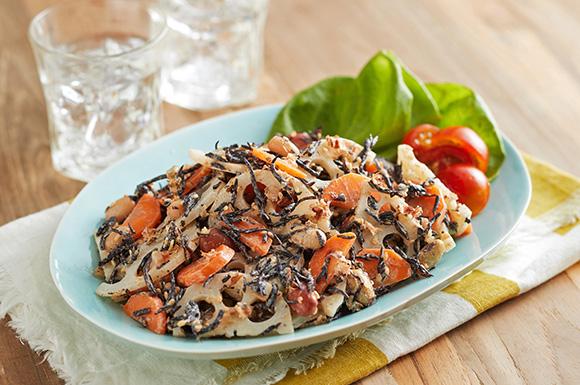 豆とひじきの根菜サラダ