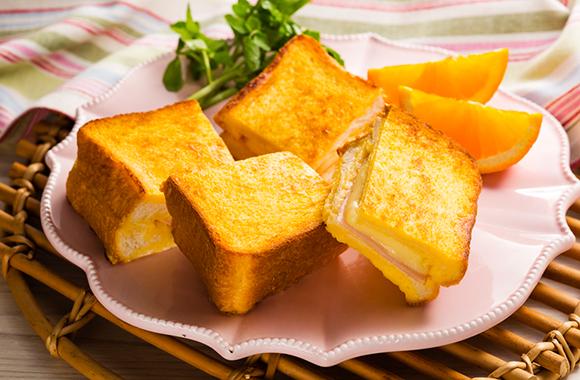 和風だし味わう フレンチトースト(クロックムッシュ風)