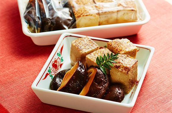 干し椎茸と焼き豆腐のめんつゆ常備菜