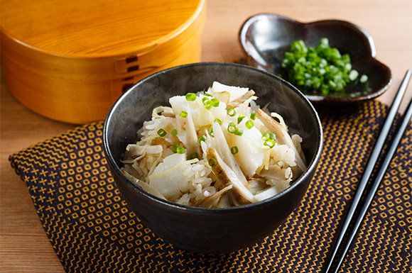 長芋とごぼうの炊き込みご飯
