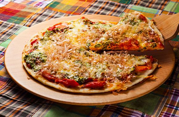 和風かつお節ピザ
