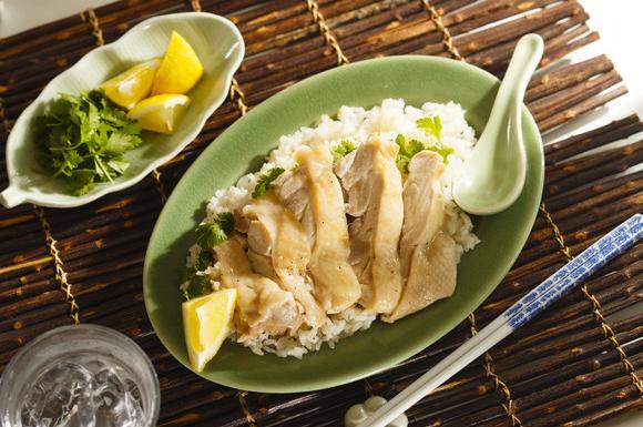 鶏もも肉のアジアンライス