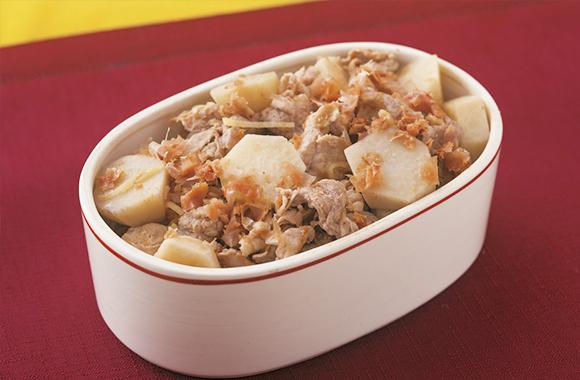 豚肉と里いものおかかジンジャー煮