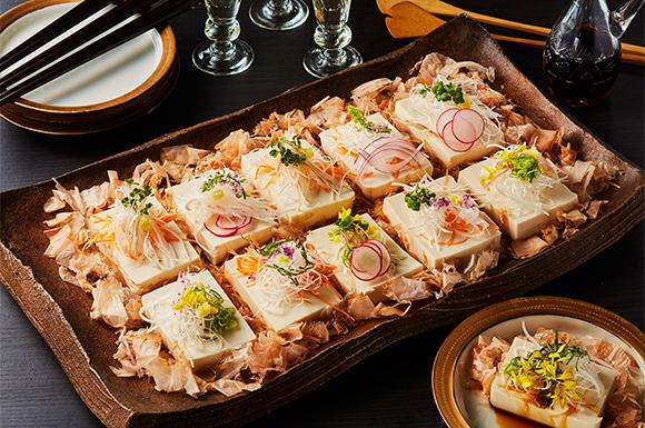 豆腐の彩りサラダ