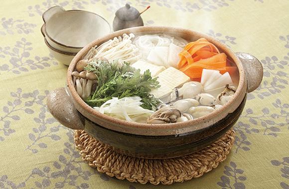 ふっくら牡蠣のだし香る塩鍋