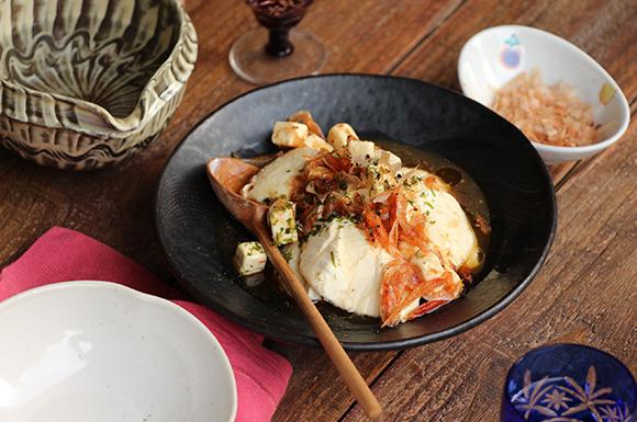 10分で作れる「おかかと桜えびのチーズ豆腐」
