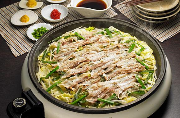 豚肉とキャベツの重ね蒸し鍋