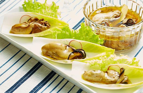 牡蠣のめんつゆオイル漬け
