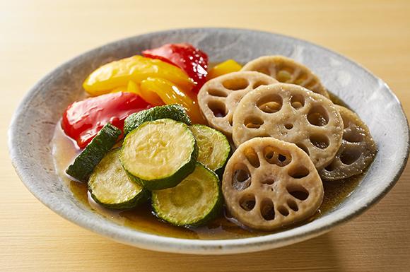 野菜のだし浸し(通年)〜揚げる〜