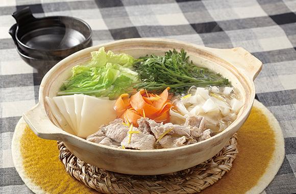 豚肉と薄切り野菜のごほうび鍋