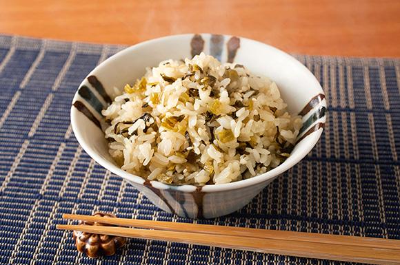 阿蘇の高菜飯風炊き込みご飯