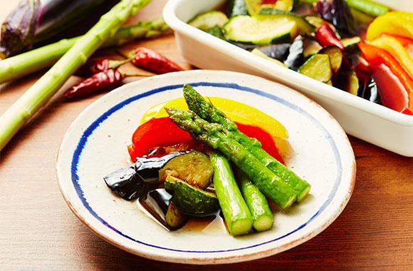 彩り野菜の揚げびたし