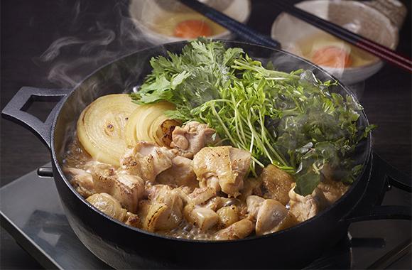 鶏もも肉と香草の鶏すき鍋