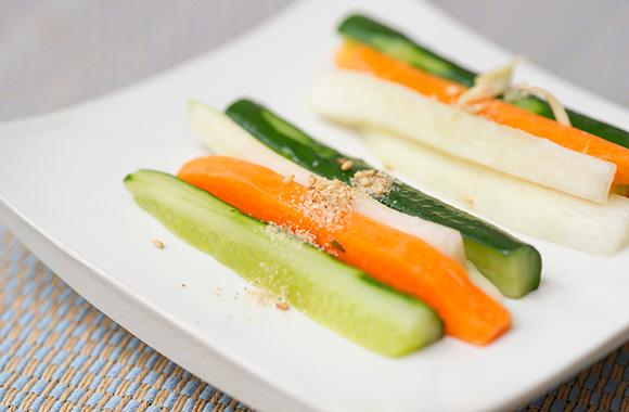 野菜の白だし浅漬け