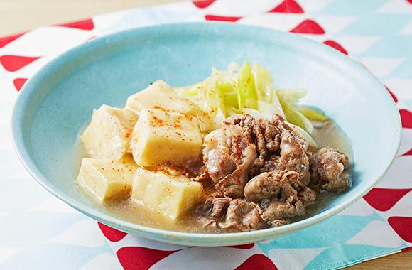 高野豆腐と牛こま肉の白だしさっと煮
