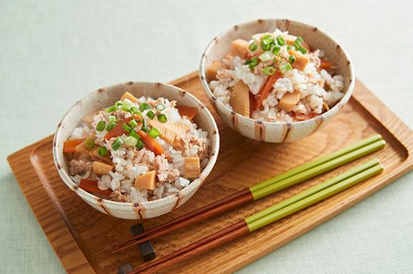 ツナと筍の混ぜご飯