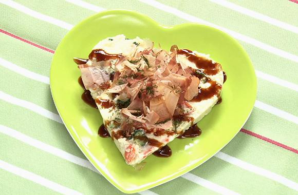お好み焼き風ポテトサラダ