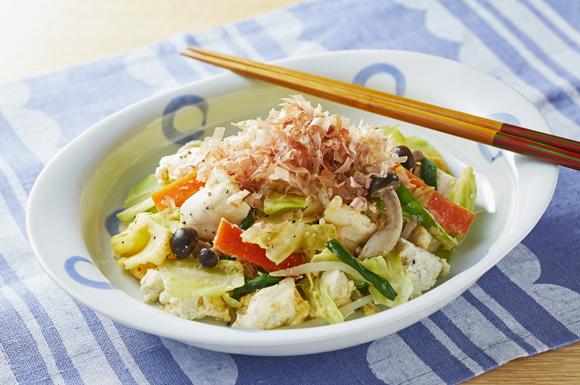 レンチン豆腐チャンプルー