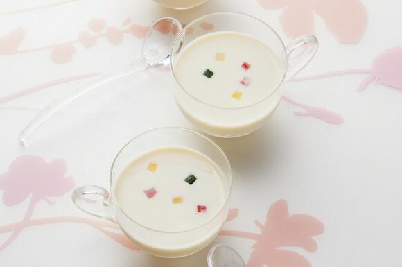 豆乳の冷たいスープ