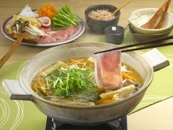 豚肉と水菜のはりはりだし鍋