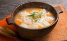 ぷちぷち大麦と長いもの白だしスープ