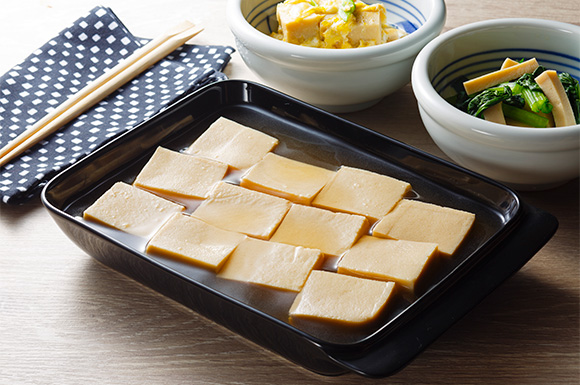 高野豆腐のめんつゆ常備菜