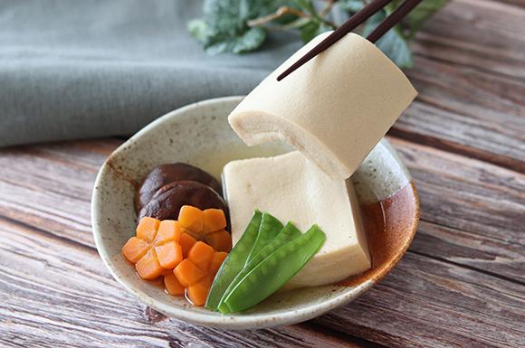 レンジで白だし高野豆腐