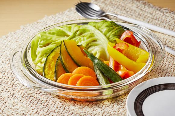 夏野菜のレンジ蒸し