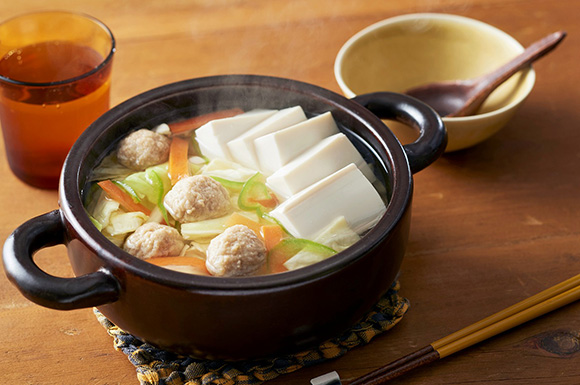 カット野菜で簡単ひとり鍋
