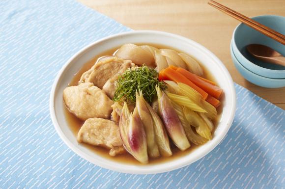 香味野菜と鶏肉のひんやり煮