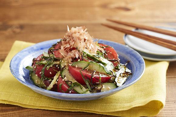 トマトときゅうりの和風サラダ
