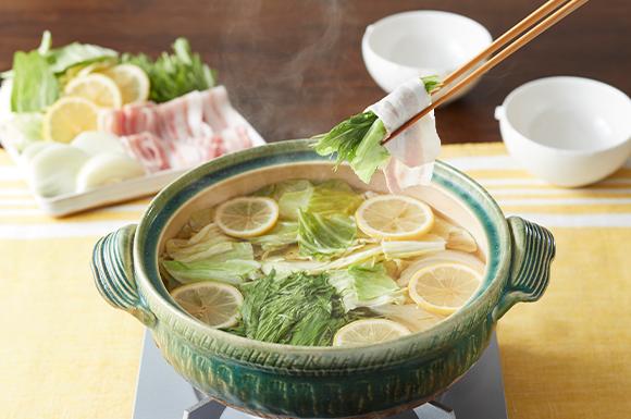 春キャベツのレモン豚しゃぶ鍋