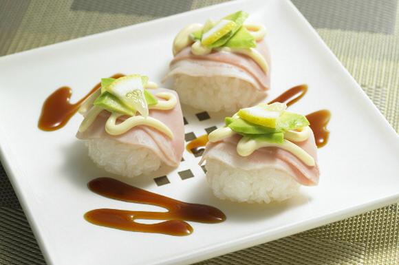 ハムの洋風手まり寿司