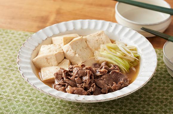 めんつゆで出来る!肉豆腐