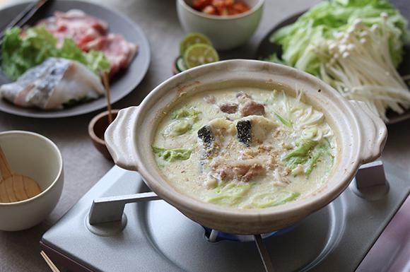 ごま生姜豆乳鍋