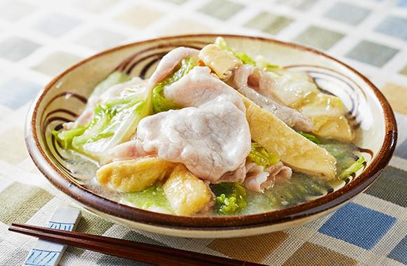 白菜と豚しゃぶ肉の白だしさっと煮