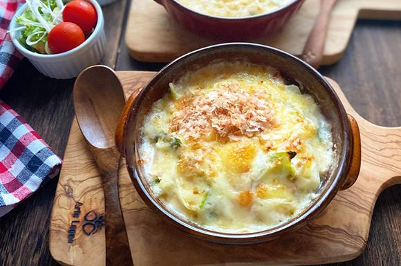 白菜とハムのうま味たっぷり和風グラタン