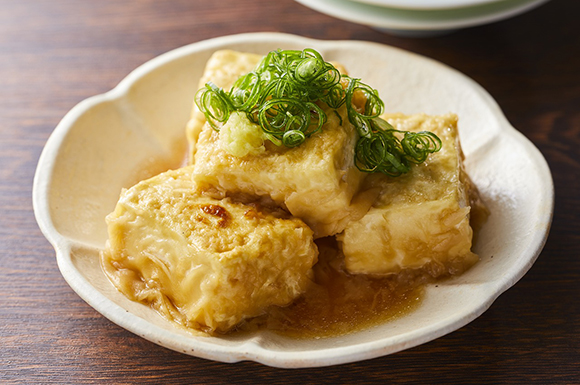 だしから作る揚げ出し豆腐
