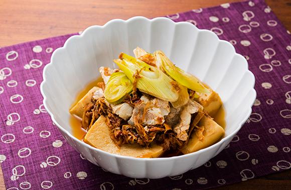 高野豆腐と豚肉の含め煮
