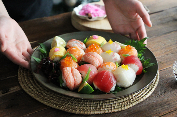 【失敗なしの簡単酢飯】海鮮手まり寿司